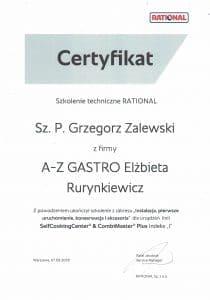 Certyfikat serwis gastronomiczny