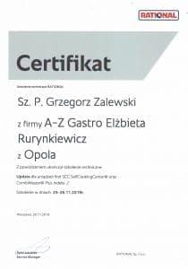 Certyfikat serwis urządzeń Rational